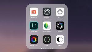 Fotografické aplikace iPhone