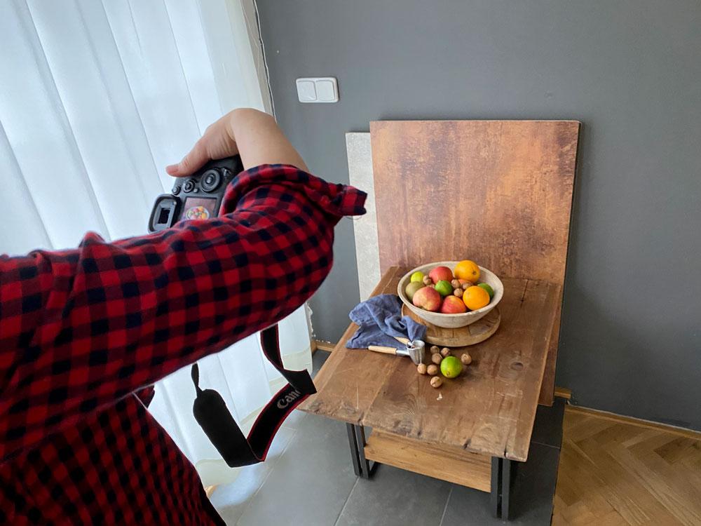 Fotografování jídla - domácí ateliér