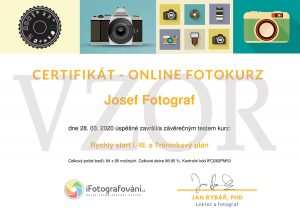 certifikát online kurz