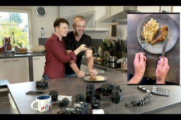 Fotografování jídla - pozice rukou
