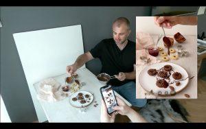Fotografování jídla - lití čokolády
