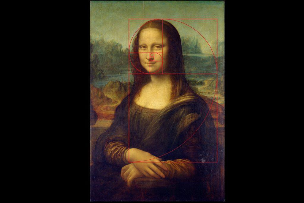 Mona Lisa zlatý řez