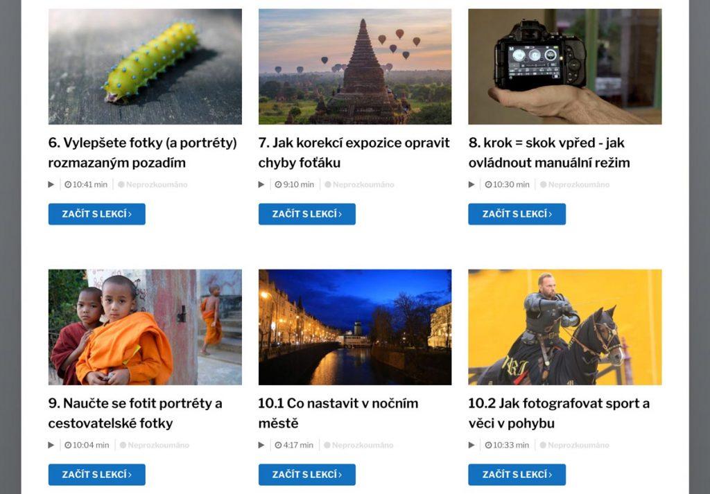 Online kurzy fotografování