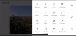 Aplikace iPhone SnapSeed