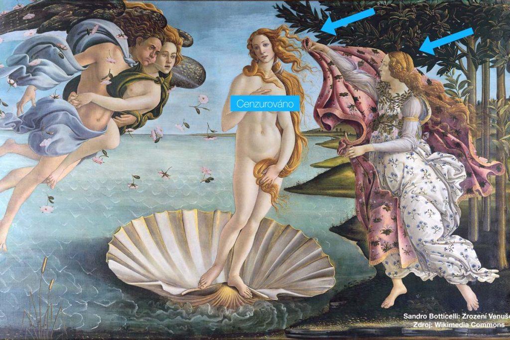 Sandro Botticelli: Zrození Venuše Zdroj: Wikimedia Commons